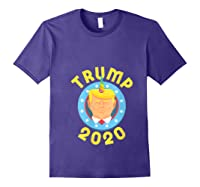 Funny Unicrontrump 2020 Election Usa Flag Republican Gift T Shirt Purple