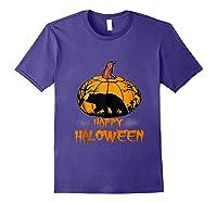 Bear Pumpkin Happy Halloween Costume Shirts Purple