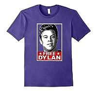 American Vandal Free Dylan Political Poster Premium T-shirt Purple
