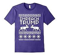 Impeach Trump Christmas T Shirt Anti Trump Holiday Wear Purple