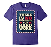 Happy Labor Day Hard Worker Cool Employee Gift Back Print T-shirt Purple