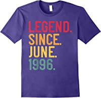 Legend Since June 1996 25th Birthday 25 Years Old Vintage T-shirt Purple