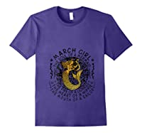March Girl The Soul Of A Mermaid Tshirt Funny Gifts T Shirt Purple