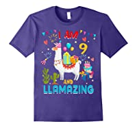 I Am 9 Years Old Zing Cute 9th Birthday Gift T-shirt Purple