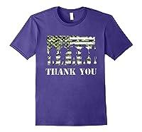 Thank You Veteran Dad Grandpa Veterans Day Gif Shirts Purple