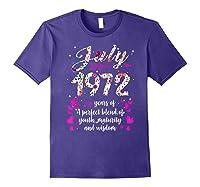 1972 47th Birthday Gift 47 Years Old Shirts Purple
