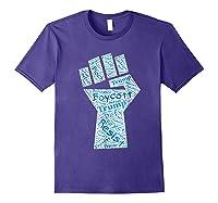 Resist Fist Anti Trump Boycott Impeach Trump T Shirt Purple