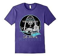 Saint Louis Missouri Route 66 Iconic Gateway Arch Souvenir T-shirt Purple