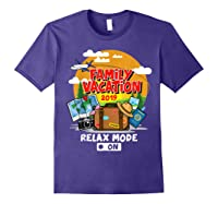 Family Vacation Trip 2019 Relax Mode On T Shirt Purple