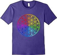 Blume Des Lebens Heilige Geometrie Spirituell Zen Yoga T-shirt Purple