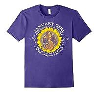 January Girl The Soul Of A Mermaid Tshirt Birthday Gifts Purple