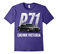 Police Car Crown Victoria P71 Shirt Purple