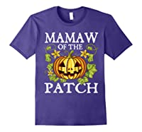 Mamaw Of The Patch Pumpkin Halloween Costume Gift Shirts Purple