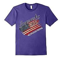 El Paso Strong Impeach Trump 45 Anti President American Map Shirts Purple