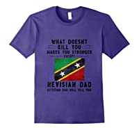 Saint Kitts Nevis Dad Gifts For Fathers Day Tank Top Shirts Purple