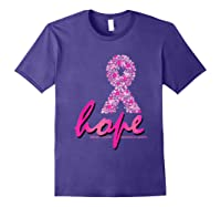 Hope Pink Ribbon Breast Cancer Awareness Month T Shirt Purple