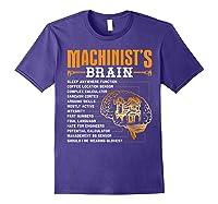 Funny Machinist Gifts Machinist S Brain Shirts Purple
