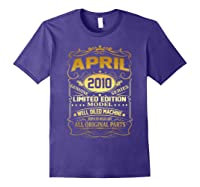 April 2010 Vintage 9th Birthday 9 Years Old Gift Shirt Purple
