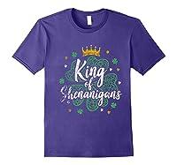 King Of Shenanigans Funny Saint Patricks Day T Shirt Purple