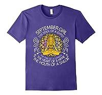 September Birthday September Girl The Soul Of A Gypsy Tshirt Purple