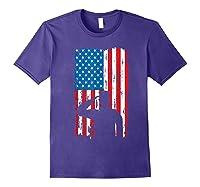 Veteran S Day Patriotic Usa Flag We Salute You Veterans T Shirt Purple