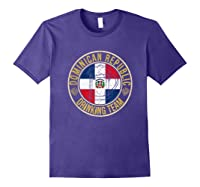 Funny Beer Dominican Republic Drinking Team Casual T-shirt Purple