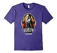 The Walking Dead Queen Carol T-shirt Purple