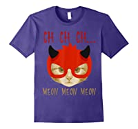Ch Ch Ch Meow Meow Halloween Scary Cat Gifts Shirts Purple
