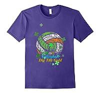Irish Volleyball Dig The Gold T Shirt Saint Patricks Day Tee Purple