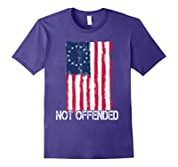 Betsy Ross American Flag Tshirt With 13 Stars For Protesters Purple