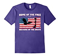Home Of The Free Because Of The Brave Veterans Tshirt Purple