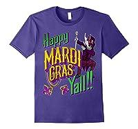 Happy Mardi Gras Yall Dabbing Voodoo King Costume Gift Shirts Purple