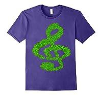 Music Note Shamrock Funny St Saint Patrick S Day T Shirt Purple