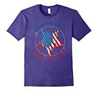 Honor The Fallen Thank The Living Veteran's Day Gift Tee Premium T-shirt Purple