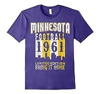 Minnesota 1961 Skyline Throwback Football Shirts Purple