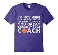 Funny Basketball Coach Shirt   Coaches Tshirt Gift Idea Purple
