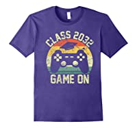 Kindergarten 2019 Class Of 2032 Game On Gamer, Grow With Me Shirts Purple
