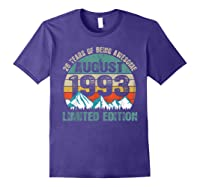 Born August 26 Limited Edition Bday Gift 26th Birthday Shirts Purple