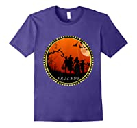Friends Horror Scary Halloween T Shirt For Purple