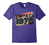 Vintage 1978 - Retro 40th T Shirt Gift 40 Yrs Years Old Purple
