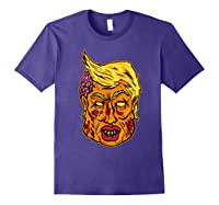 Cool And Creative Zombie Donald Trump T-shirt Purple