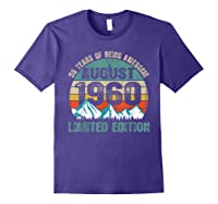 Born August 59 Limited Edition Bday Gift 59th Birthday Shirts Purple