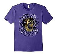 April Girl The Soul Of A Mermaid Tshirt Funny Gifts Premium T Shirt Purple