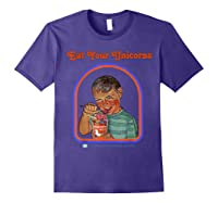 Eat Your Unicorn Meat T-shirt Purple