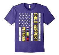 Child Support Veteran Tshirt Veteran Day Gift T Shirt Purple