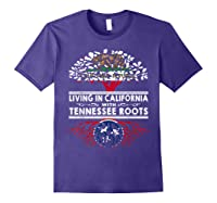 Living In California Home Tennessee Roots State Tree Shirts Purple