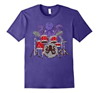 Octopus Drumming Cute Sea Drummer Lover Funny Gift Shirts Purple