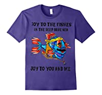 Joy To Fishes In Deep Blue Sea Hippie Shirts Purple