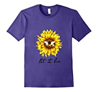 Let It Bee Sunflower Gift For Shirts Purple