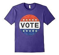 Vote Distressed Design Political Us Election 2020 T Shirt Purple